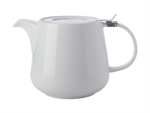 Maxwell & Williams White Basics Teapot with Infuser 600ML White Gift Boxed-tea-makers-and-pots-What's Cooking Online Store