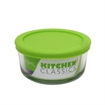 Kitchen Classic Round Container with Green Lid 472ml-bakers-What's Cooking Online Store