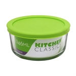 Kitchen Classic Round Container with Green Lid 946ml-bakers-What's Cooking Online Store