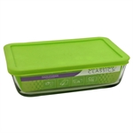 Kitchen Classic Rectangular Container with Green Lid 1.4 Litre-bakers-What's Cooking Online Store